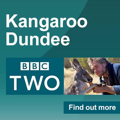 Brolga in Kangaroo Dundee on the BBC Two